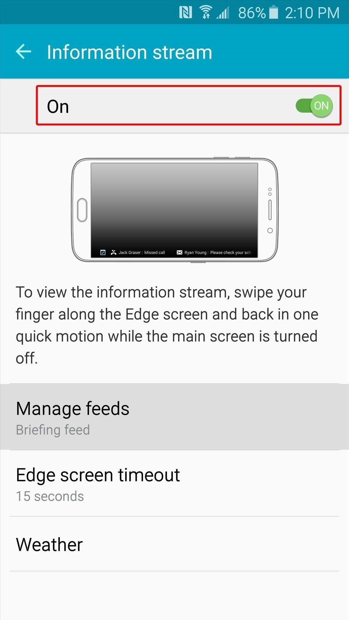 Add a Battery Meter & System Stats to the Information Stream on Your Galaxy S6 Edge