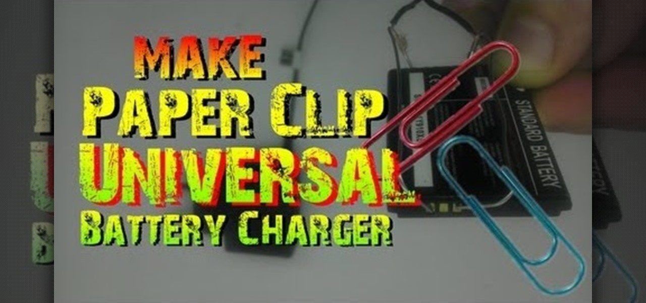 Make a Universal Phone Battery Charger with Paper Clips