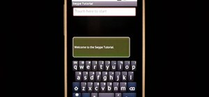 Access the Swype key to access dictionaries & help