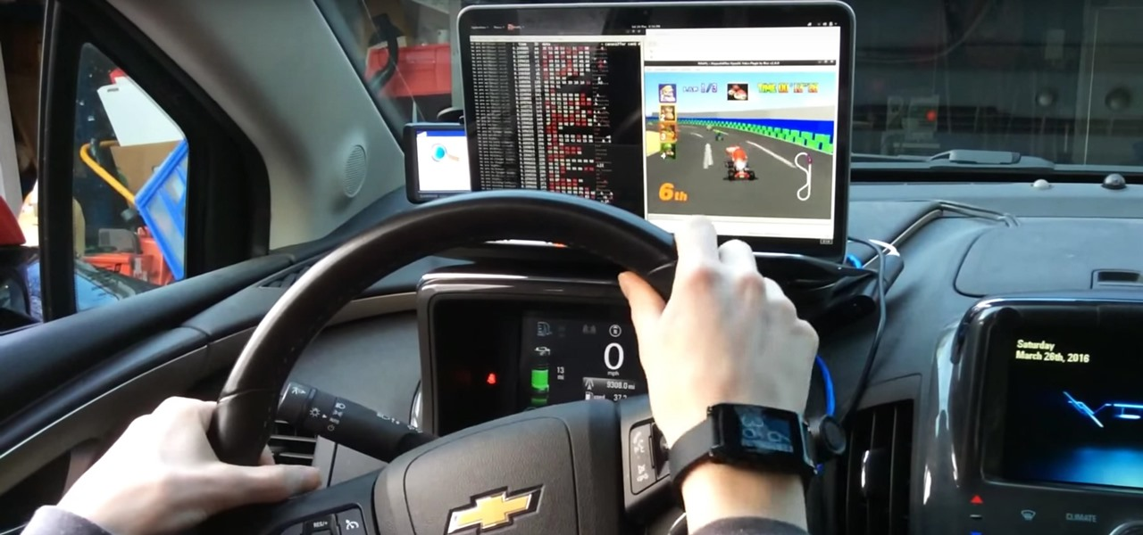 These Guys Hacked Together a Raspberry Pi & Car Steering Wheel to Play Mario Kart
