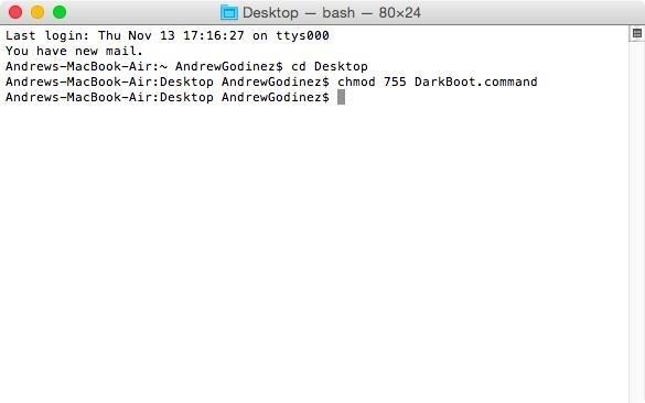 Get the Dark Mode Boot Screen on Your Pre-2011 Mac Running Yosemite