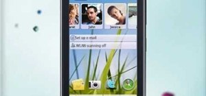 Personalize the home screen on a Nokia C5-03 mobile phone