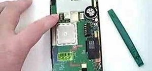 Take apart the HP iPAQ hw6515 cell phone for repair