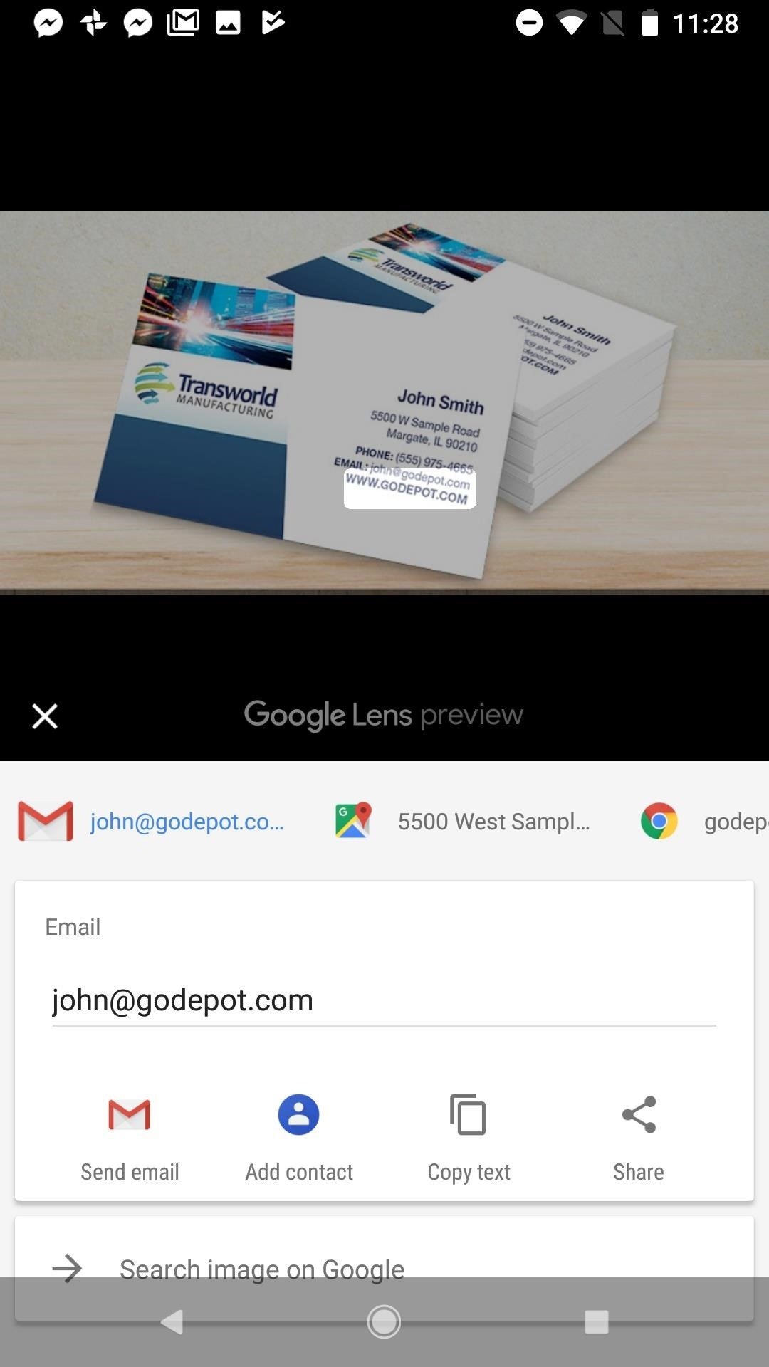 Google Photos 101: How to Use Google Lens to Save Contact Info from Business Cards