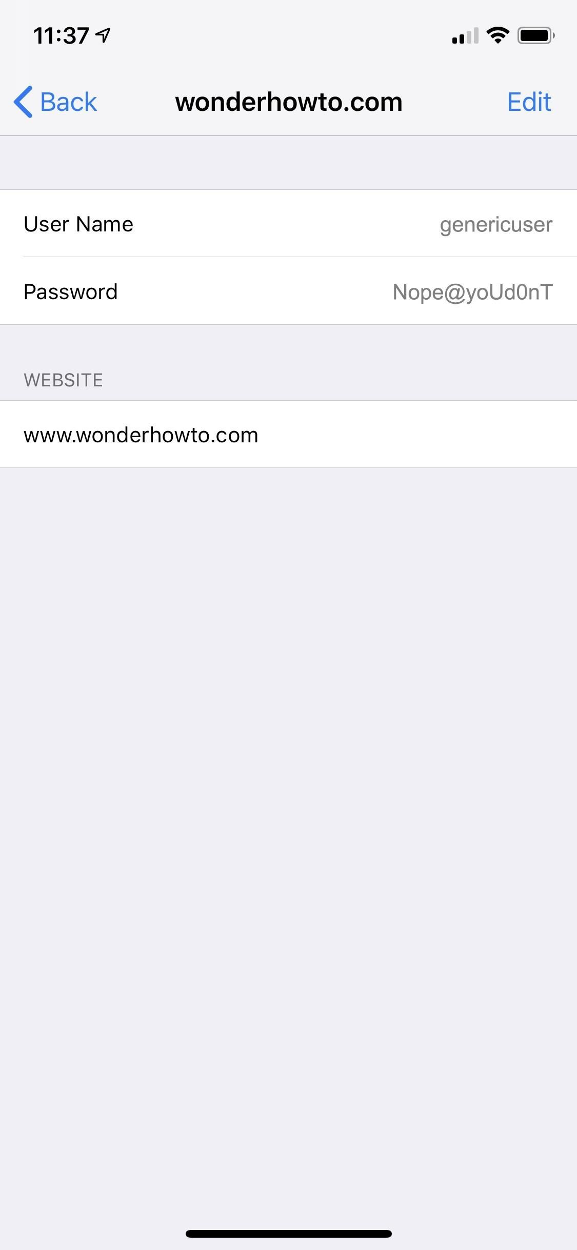 How to Find and Change Weakly Reused Passwords to More Easier in iOS12