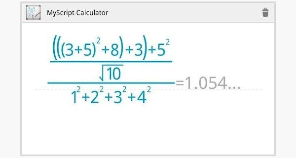 Solve Complex Equations Easier on Your Samsung Galaxy S3 with This Free Handwriting Calculator