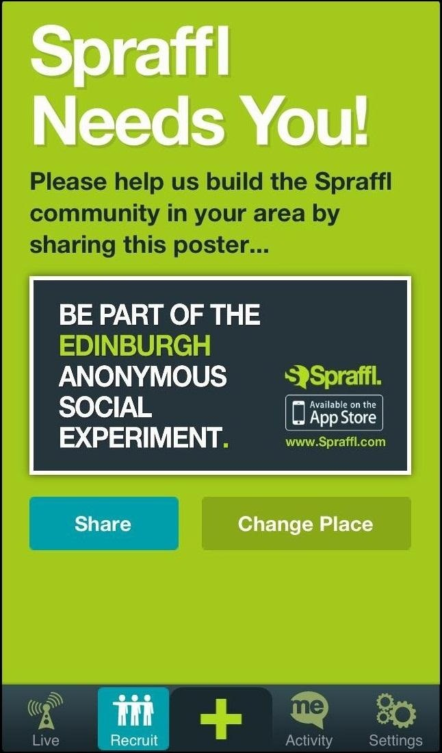 Spraffl: A New Location-Based Social Network That's Completely Anonymous