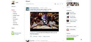 Interact with your Google+ circles via webcam by starting a Hangout