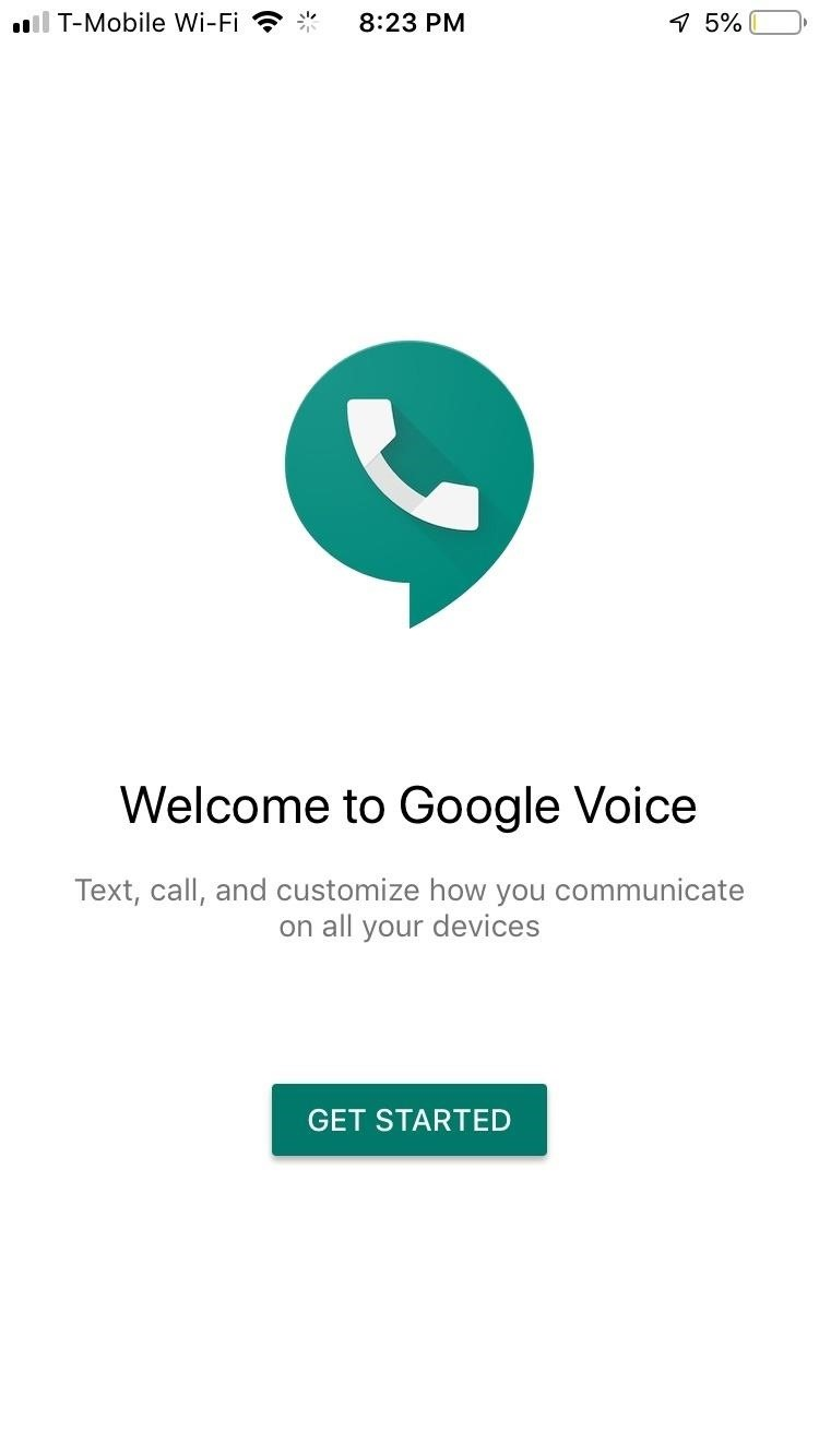 Making calls with google voice on iphone
