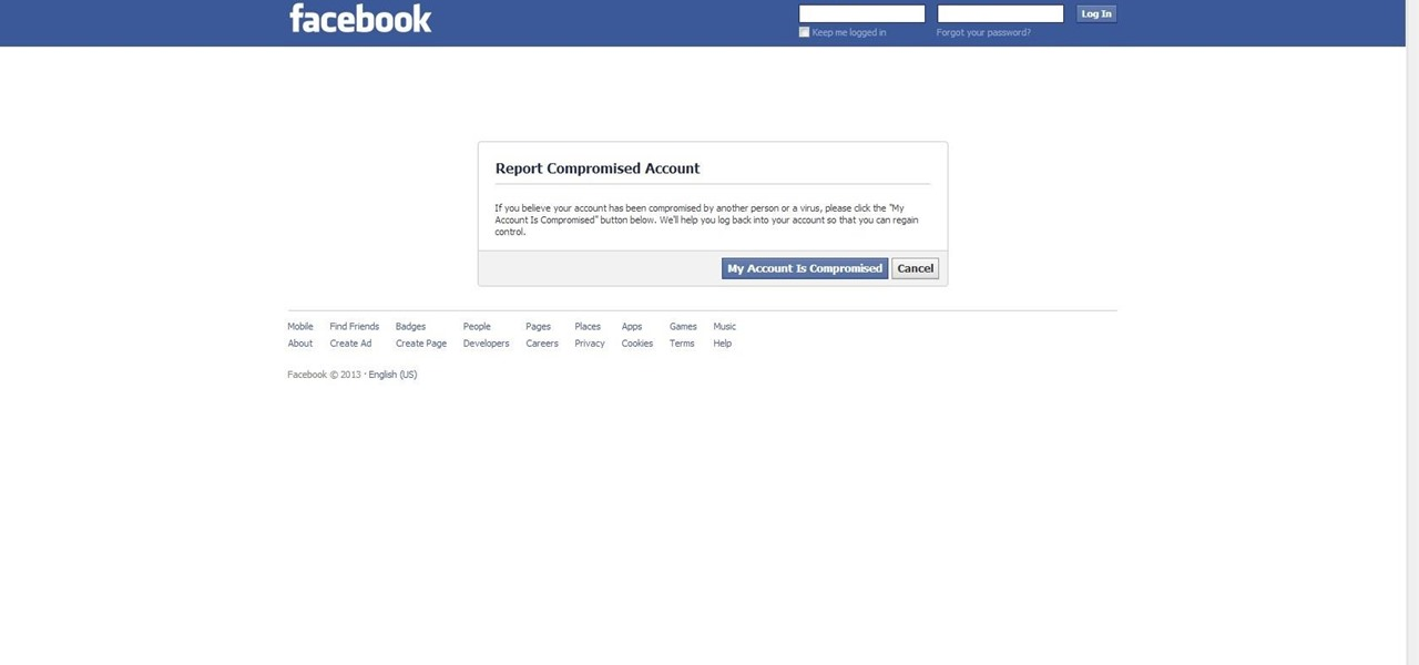Get Your Hacked Facebook Account Back.