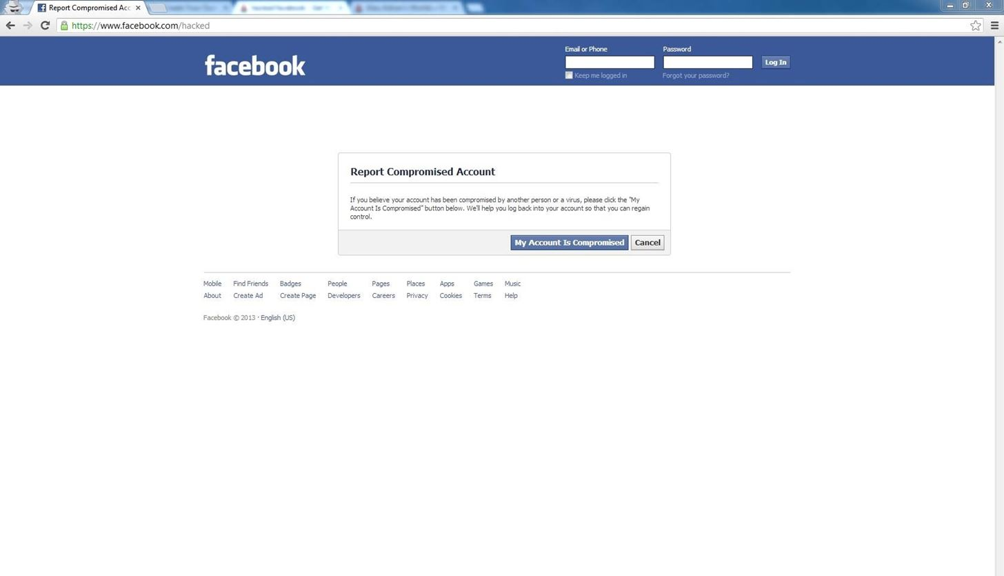 How To Get Your Hacked Facebook Account Back