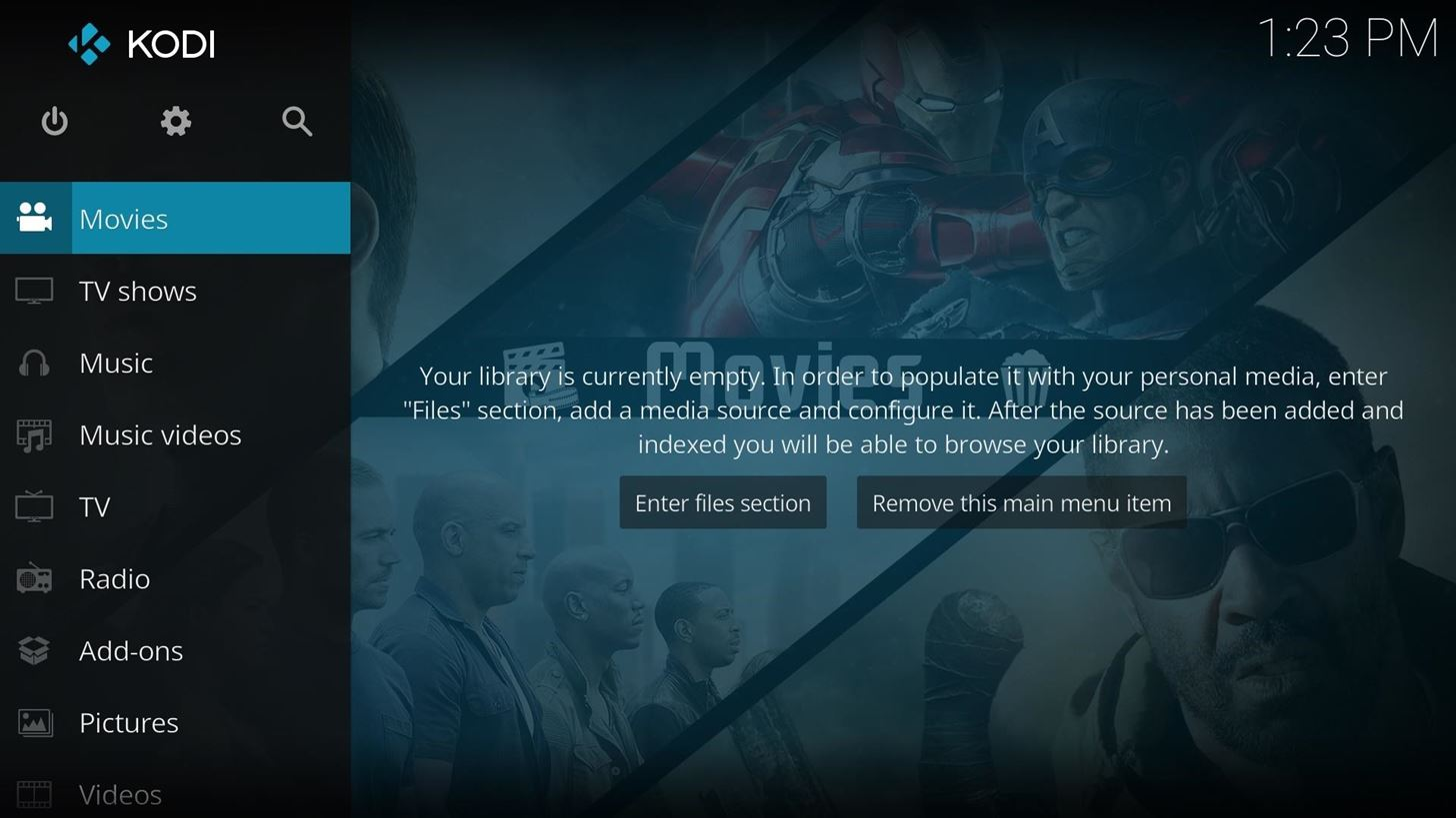 Kodi 101: How to Customize the Main Menu