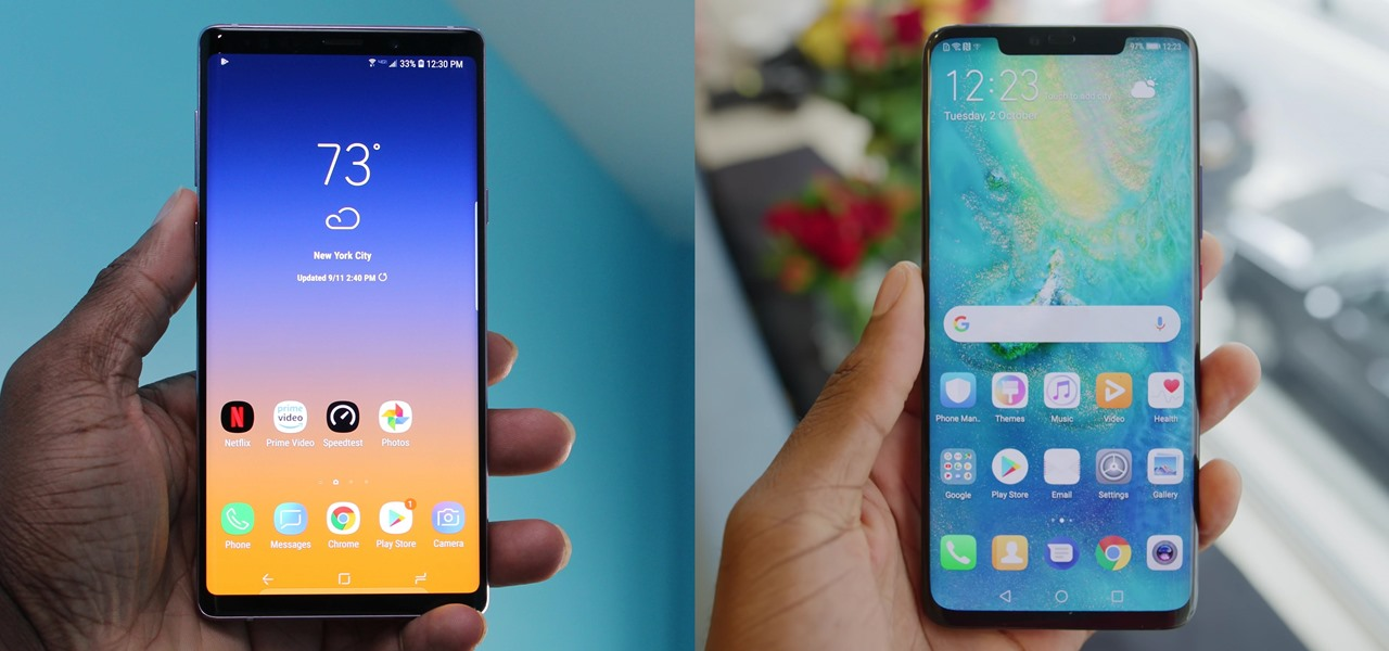 Mate 20 Pro vs  Galaxy Note 9: Comparing the Best Phones