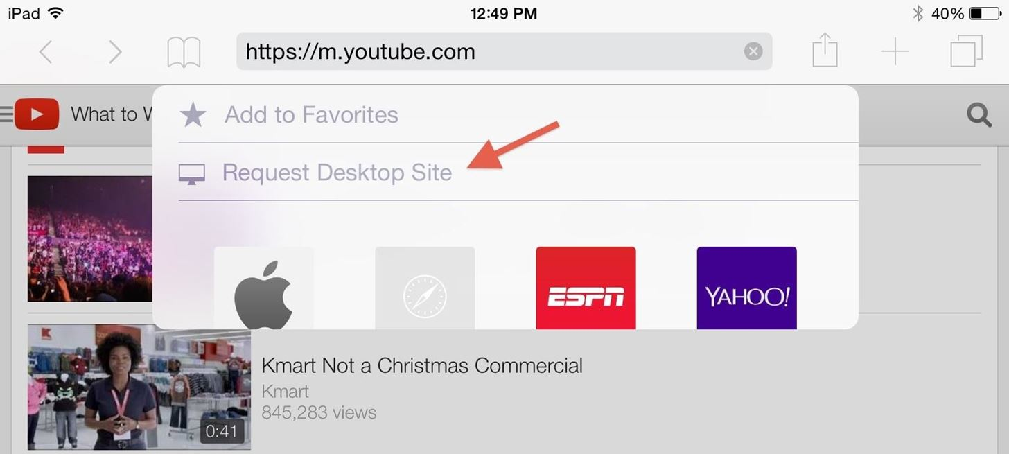 How to Request Desktop Versions of Mobile Websites in iOS 8