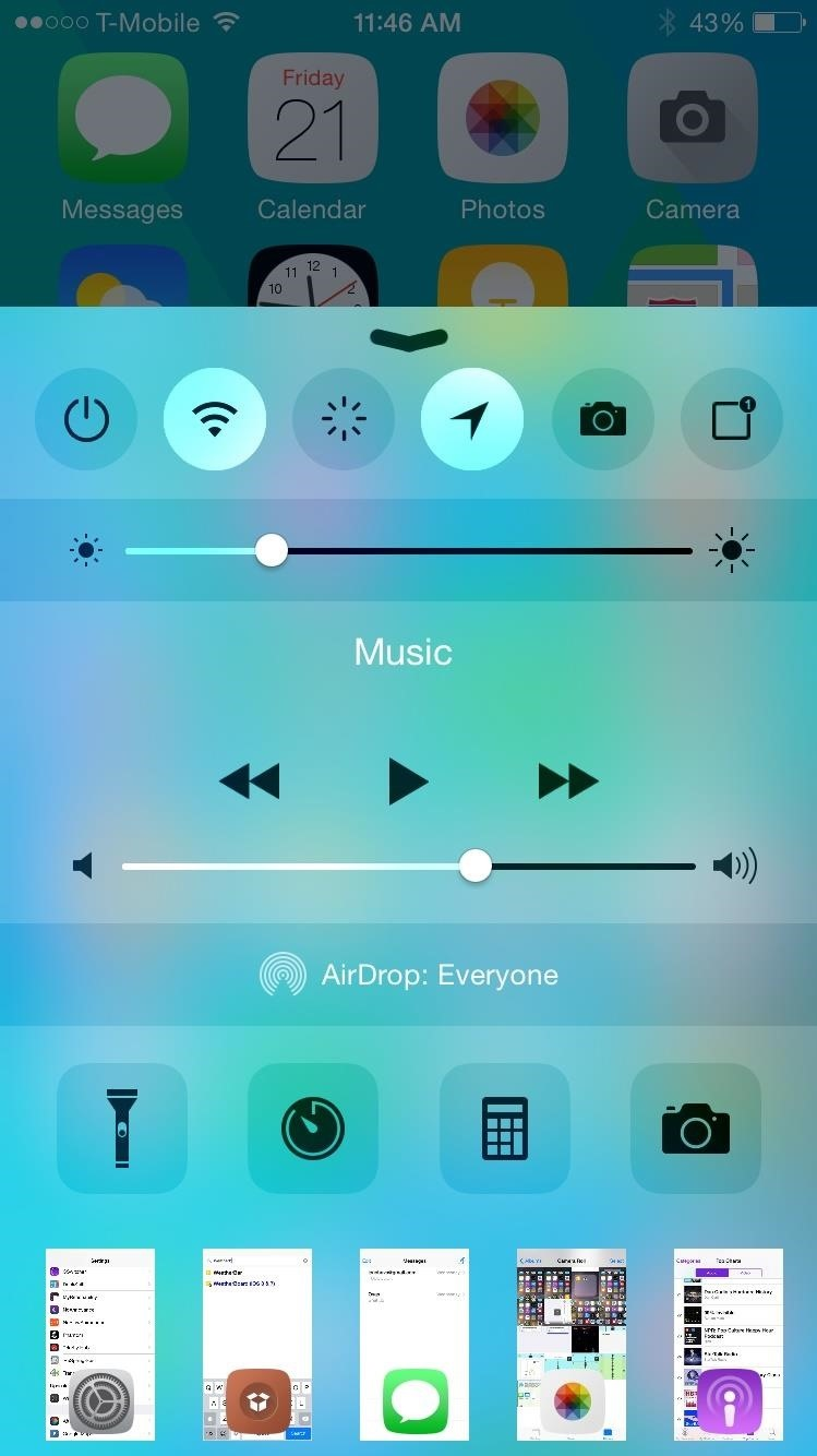 Access the App Switcher from Your iPhone's Control Center