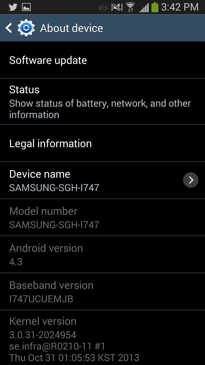 AT&T KitKat Update Rolling Out Right Now for the Galaxy S3