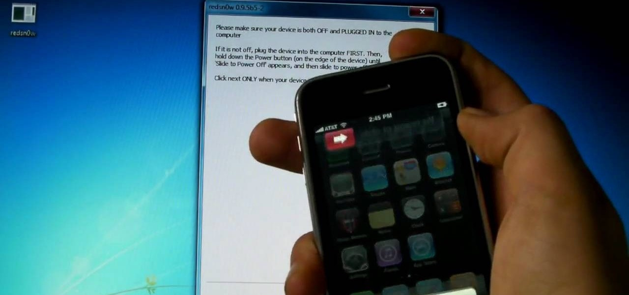 Jailbreak iPhone 3G on iOS 4 With RedSn0w