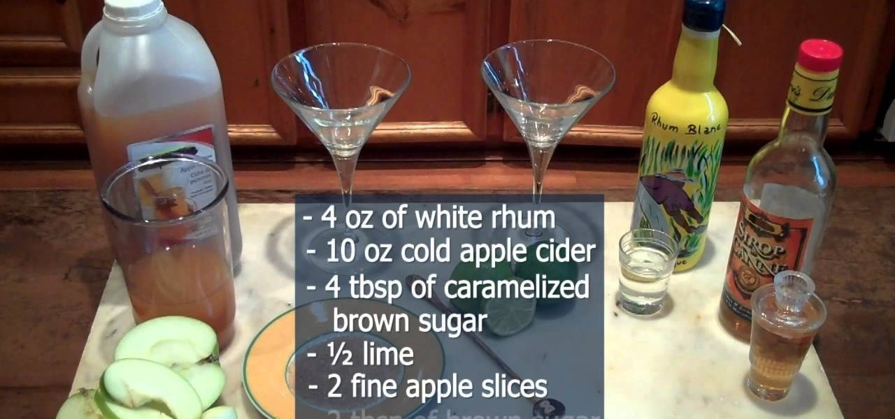 "Make An ""Apple Cider Cocktail"""