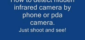 Detect hidden infra red cameras with your phone or PDA