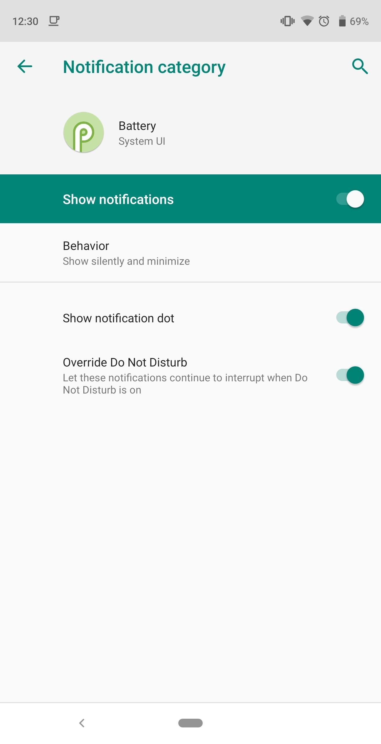 How to Stop the Low Battery Warning and Notifications in Android 9.0 Pie