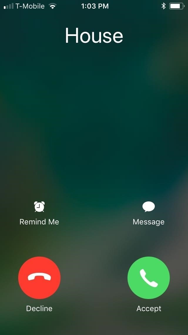 To stop incoming calls by taking over the entire screen of your iPhone