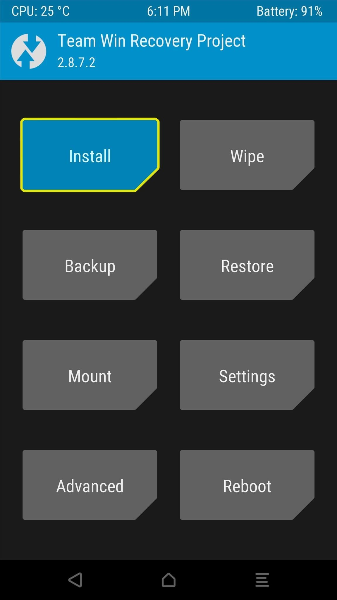 TWRP 101: How to Install a Custom ROM « Android :: Gadget Hacks