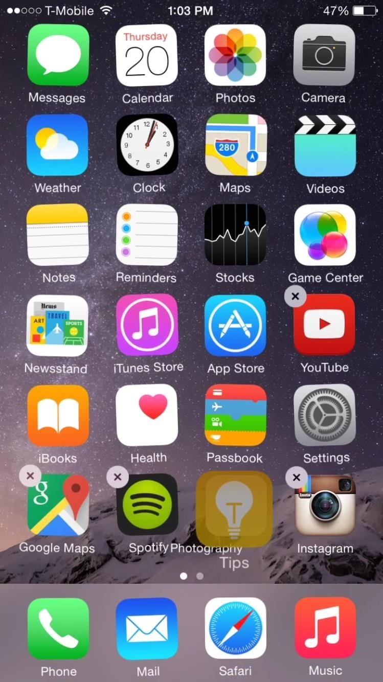 Ios 8 Glitch Lets You Hide Stock Apps Without Jailbreaking Your Iphone Ios Iphone Gadget Hacks