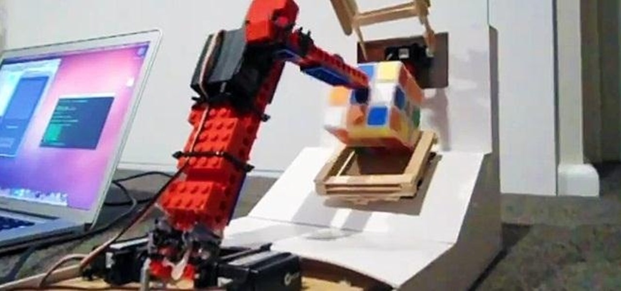 This Simple LEGO and Popsicle Stick Robot Can Solve a Rubik's Cube in 100 Moves or Less