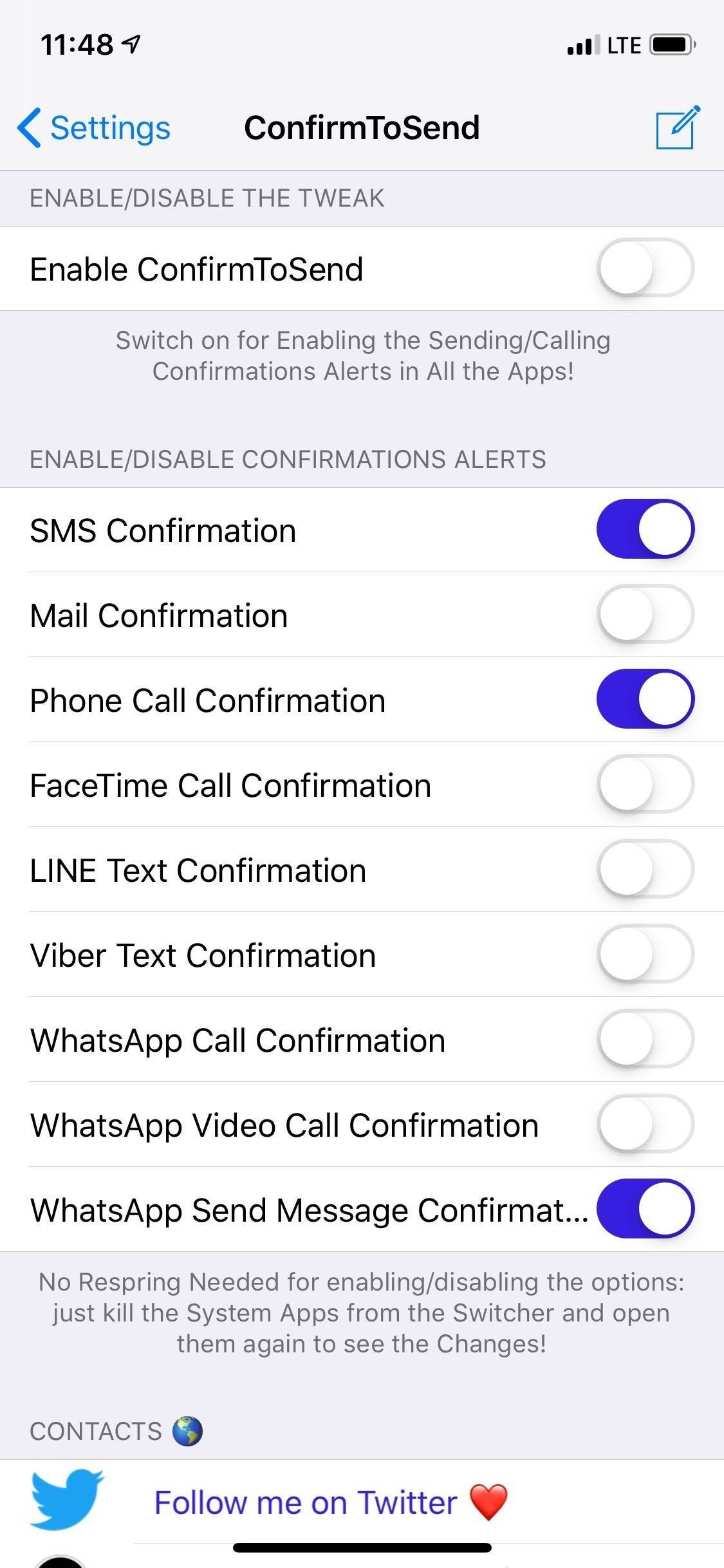 Confirm texts, emails, and phone calls before sending them on your iPhone