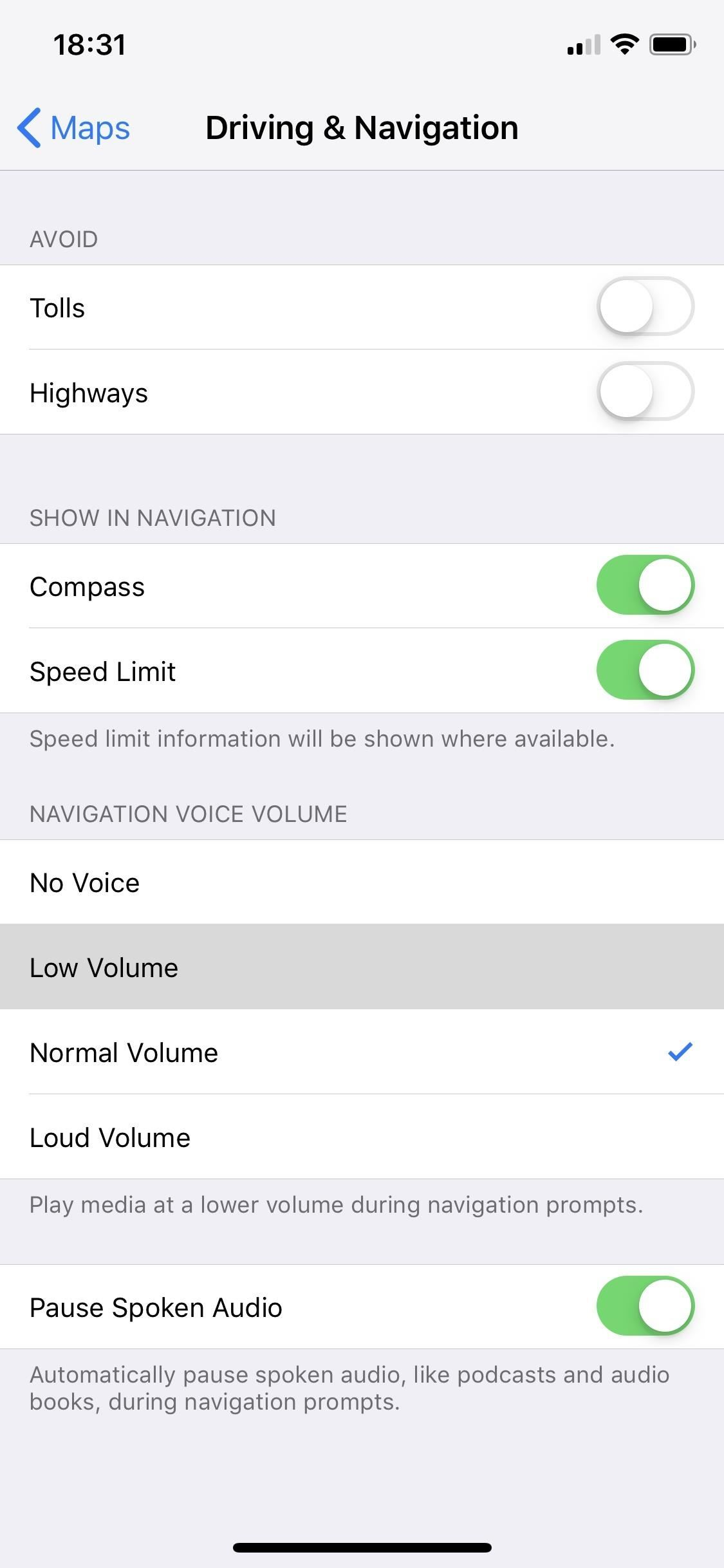 Customizing navigation instructions on Apple Maps for clearer spoken instructions