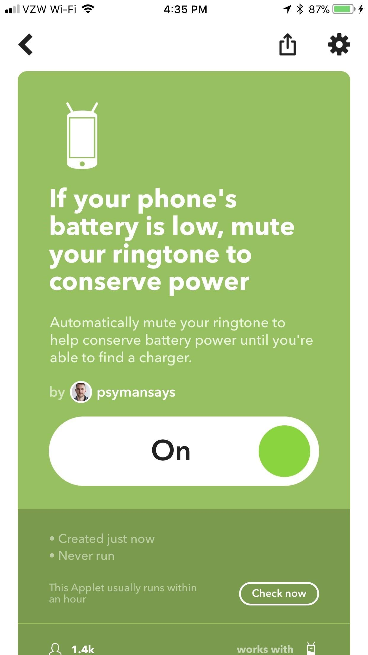 IFTTT 101: 5 Applets That Will Help Save Your Phone's Battery
