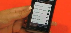 Set custom wallpapers and ringtones on a Motorola Droid 2 smartphone