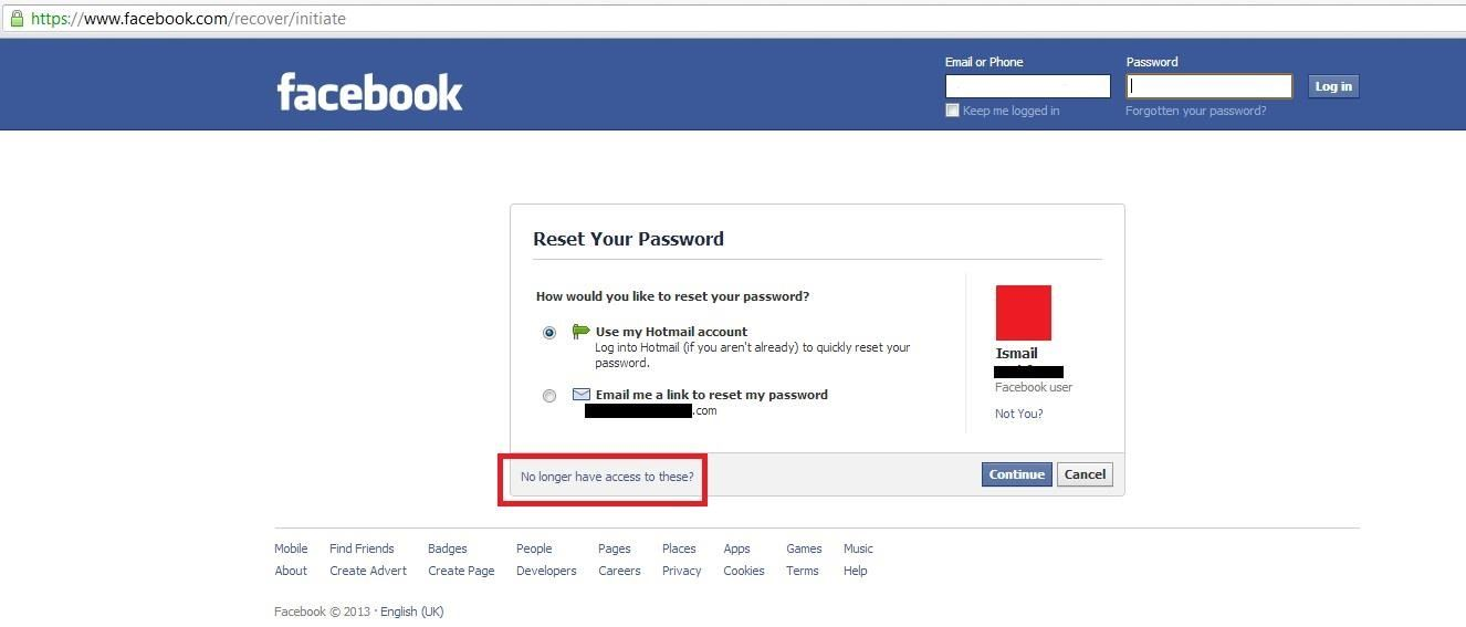 How to get your hacked facebook account back digiwonk gadget hacks your primary email would be changed so well of course you dont want to send your reset your password link to the hackers account so click no longer have ccuart Gallery