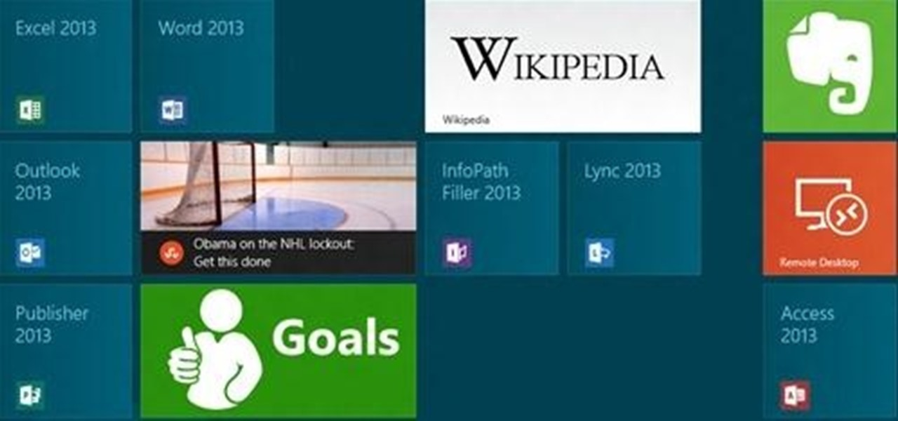 Group and Organize Your Start Screen Tiles in Windows 8