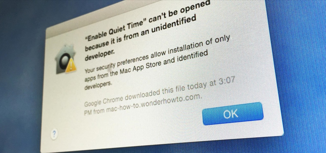 Open Third-Party Apps from Unidentified Developers in Mac OS X