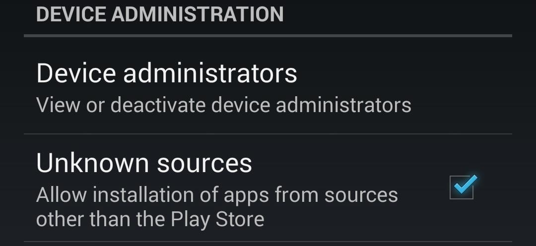 "How to Enable ""Unknown Sources"" to Install Third-Party Apps (APK Files) on a Nexus 4 or Nexus 5"