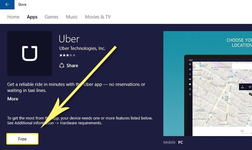 How to Hail a Ride in Uber's Official Windows 10 App