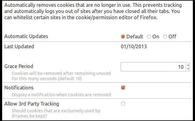 How to Automatically Delete Stored Site Cookies When You Close a Webpage in Firefox
