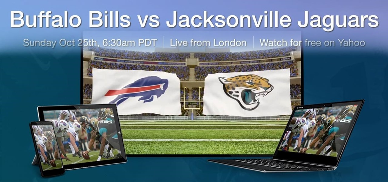 All the Ways to Stream the NFL's Bills/Jaguars Game for Free on Sunday, 10/25