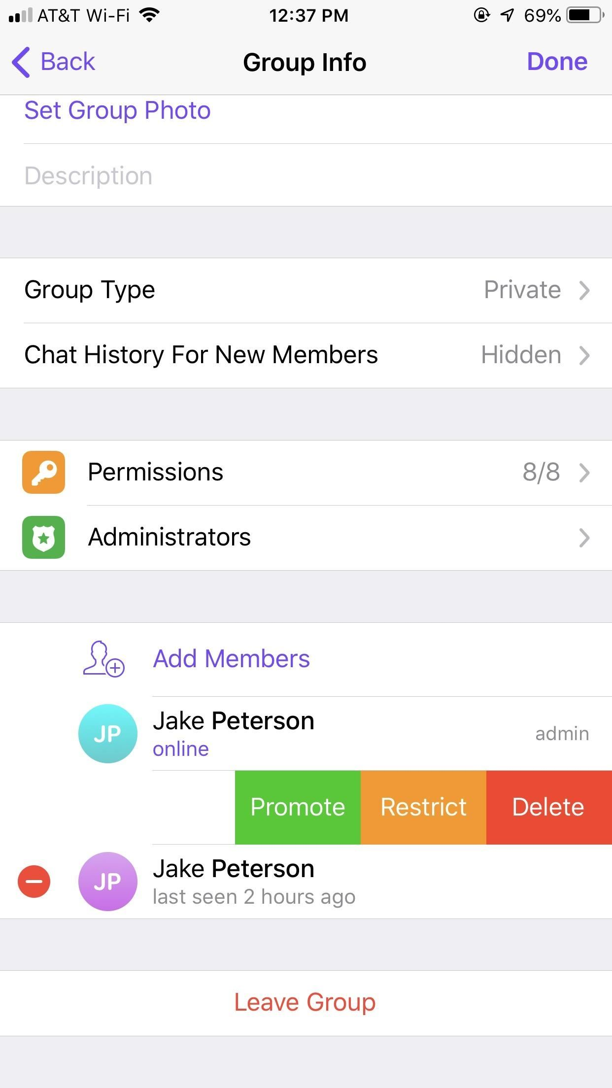 How to Change the Owner of a Telegram Group Chat to Pass the Torch
