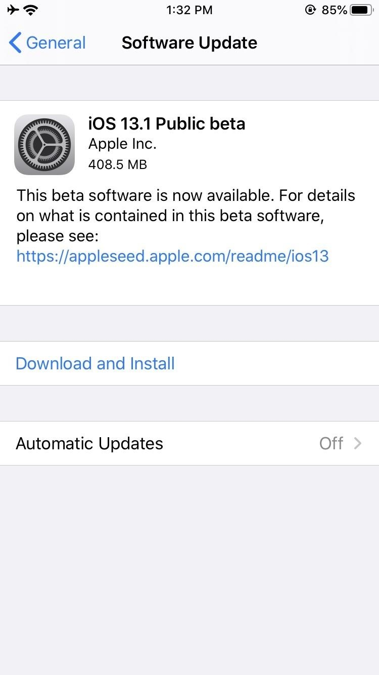 Apple Just Released the First Public Beta for iOS 13.1 — Here's What's New