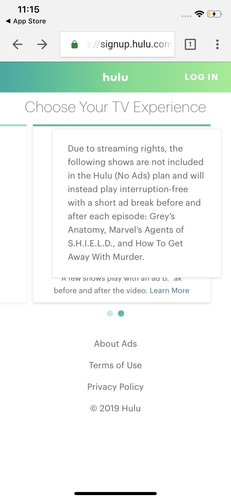 Save on Hulu by using the choose a plan suitable for you