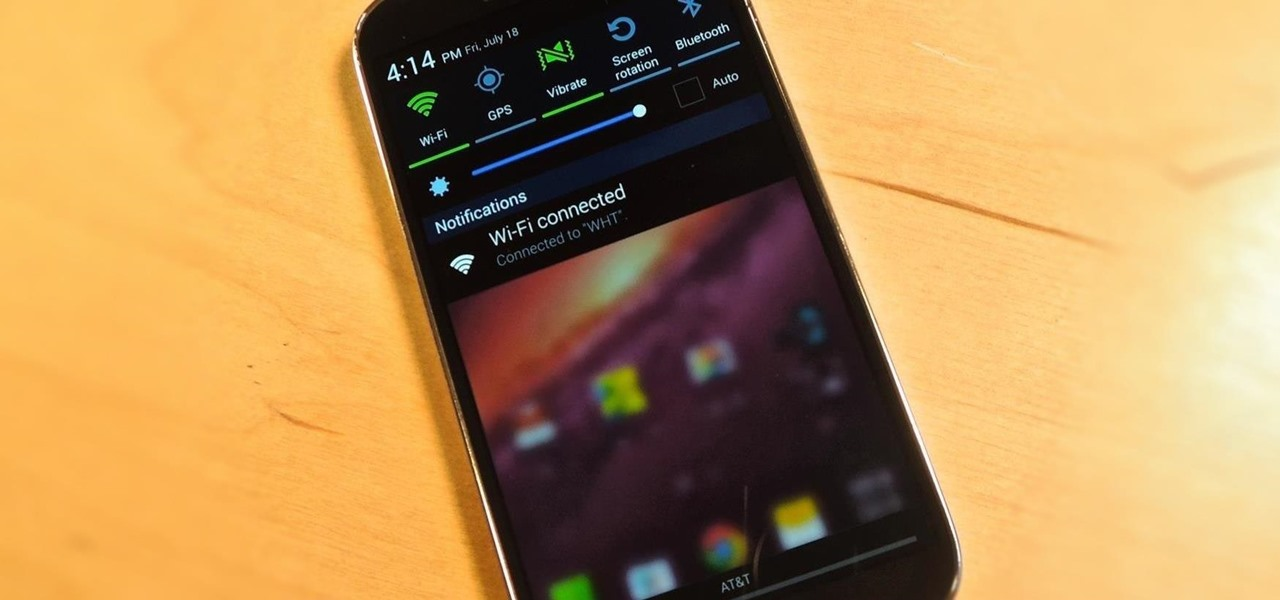 Make the Notification Panel Translucent on Your Samsung Galaxy S4