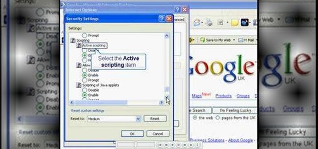 How to turn javascript on in internet explorer 171 internet