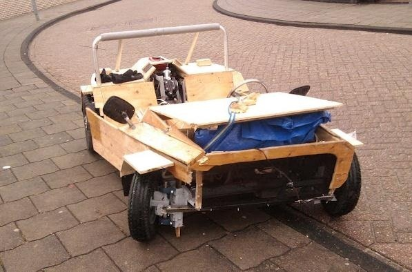 Teens Pulled Over in Their Almost Street Legal (And Totally Cool) DIY Wooden Car