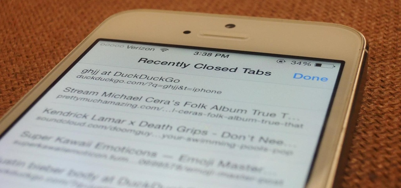 The Quick & Easy Secret to Reopen Accidentally Closed Tabs in iOS 8's Safari