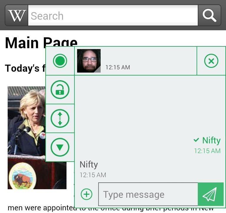 How to Get Chat Head Bubbles for Text Messages on Your Nexus 5