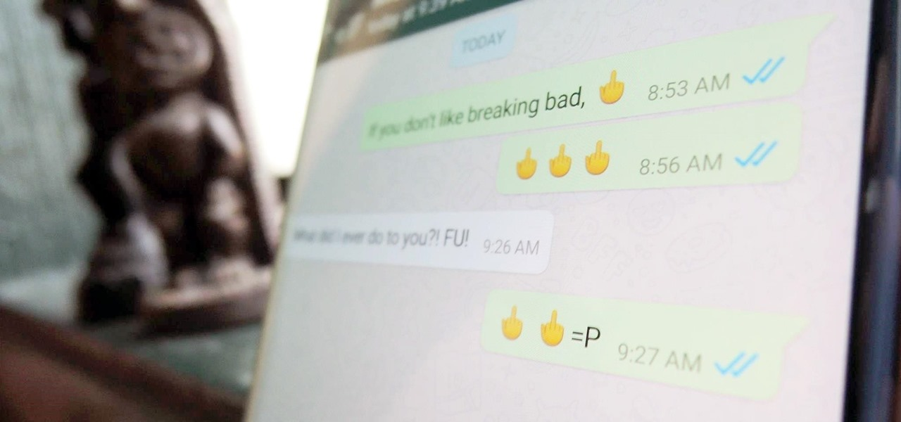 Use the Middle Finger Emoji on WhatsApp