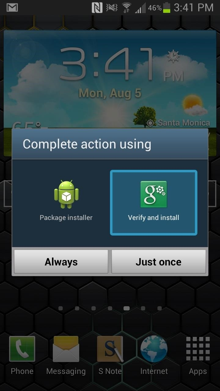 "The Fastest Way to Choose Which App Launches Links & Files: Remove the ""Just Once"" Prompt on Your Galaxy Note 2"
