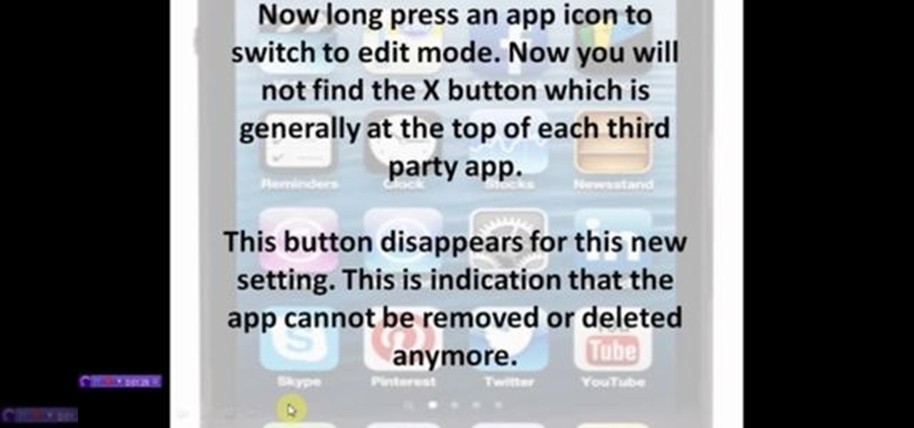 Prevent Uninstalling Apps and Games in iPhone or iPad